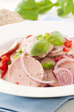 Bavarian Sausage Salad Stock Photos