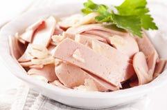 Bavarian sausage salad Royalty Free Stock Images