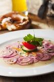 Bavarian sausage salad Stock Photos