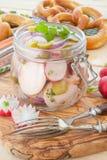 Bavarian sausage salad Royalty Free Stock Image