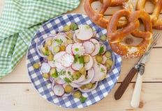 Bavarian sausage salad Stock Photo