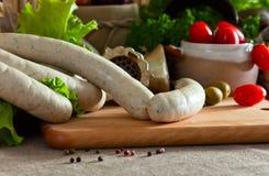 Bavarian sausage Stock Photos