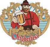 Bavarian. Smiling Bavarian man with mug Royalty Free Stock Photos