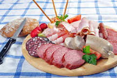 Bavarian Snack Plate Royalty Free Stock Images