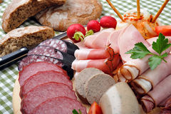 Bavarian Snack Plate Stock Photo