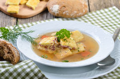 Bavarian soup Royalty Free Stock Images