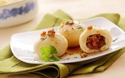 Bavarian speciality cuisine - grammelknodel Royalty Free Stock Image