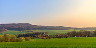 Bavarian Spring Landscape. Landscape Picture of Oberfranken in Bavaria in spring Stock Image