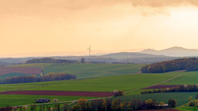 Bavarian Spring Landscape. Sunset Picture of a bavarian spring landscape Stock Image