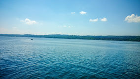 Bavarian Starnbergersee with boats on lake Stock Photos