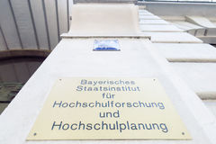 Bavarian state institute for university research Royalty Free Stock Photos