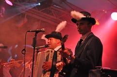 Bavarian-style folk music band 2 Stock Photos