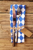 Bavarian table setting in a tavern Royalty Free Stock Photos