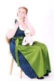 bavarian telefon komórkowy miś pluszowy kobieta Zdjęcia Stock