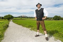 Bavarian traditional costume Stock Photos