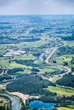 Bavarian Valley with a Highway Road Stock Photo