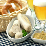 Bavarian veal sausage Royalty Free Stock Images