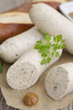 Bavarian veal sausage Stock Images