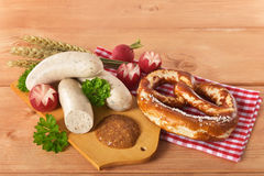 Bavarian veal sausage breakfast Royalty Free Stock Image