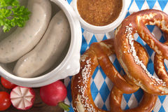 Bavarian veal sausage breakfast Stock Photos