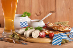 Bavarian veal sausage breakfast Stock Image