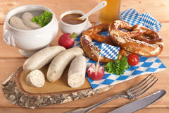 Bavarian veal sausage breakfast Royalty Free Stock Photo