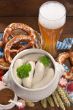 Bavarian veal sausage breakfast Royalty Free Stock Photos