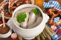 Bavarian veal sausage breakfast Royalty Free Stock Photography
