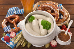 Bavarian veal sausage breakfast Stock Images