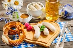 Bavarian veal sausage Stock Photo