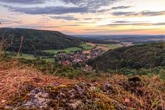 Bavarian Village Landscape. Landscape Panorama Shot from Bavaria, Germany in Summer Stock Images