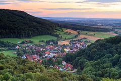 Bavarian Village Landscape. Landscape Panorama Shot from Bavaria, Germany in Summer Royalty Free Stock Photos