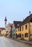 Bavarian village on a rainy day Royalty Free Stock Photos