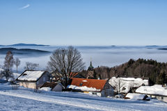 Bavarian village in winter Royalty Free Stock Image