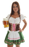 Bavarian waitress holding a Oktoberfest Beer Mug Royalty Free Stock Images