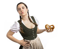 Bavarian waitress Oktoberfest Royalty Free Stock Photos