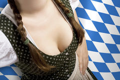 Bavarian waitress Oktoberfest Royalty Free Stock Photo