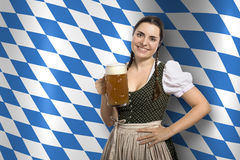 Bavarian waitress Oktoberfest Stock Photography