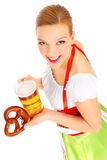 Bavarian waitress Stock Photo