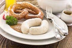 Bavarian Weisswurst Breakfast Stock Photography