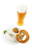 Bavarian white sausage Stock Images