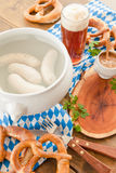 Bavarian white sausages Royalty Free Stock Photo
