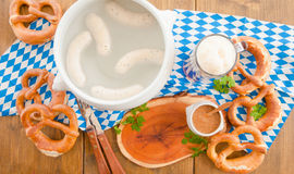 Bavarian white sausages Royalty Free Stock Photography
