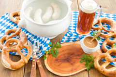 Bavarian white sausages Stock Photos