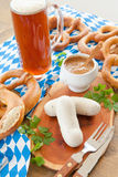Bavarian white sausages Royalty Free Stock Photos