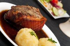 bavarian wieprzowiny pieczeń Obraz Stock