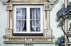 Bavarian window - mural Royalty Free Stock Images
