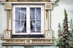 Bavarian window - mural Royalty Free Stock Image