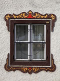 Bavarian window with painted decorations, Austria Stock Photos