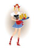 Bavarian woman with beer Stock Photo